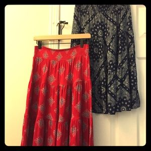 St. John's Bay skirt bundle - Red / navy blue XS